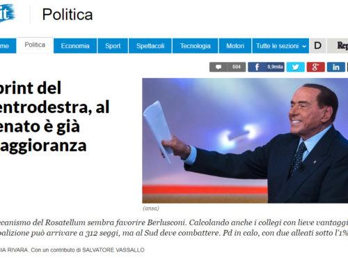 PER I SONDAGGI DI REPUBBLICA IL CENTRODESTRA HA GIA' VINTO AL SENATO