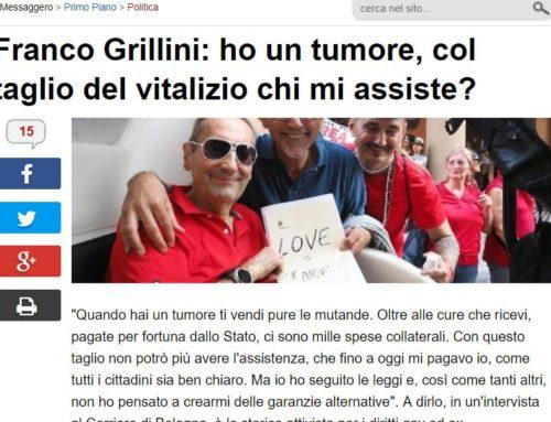FRANCO GRILLINI LOTTA CONTRO IL CANCRO: GLI DIMEZZANO IL VITALIZIO