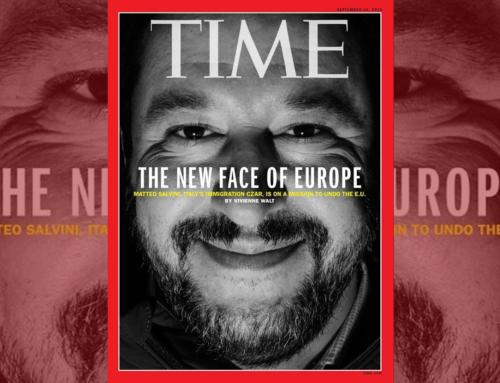 SALVINI IN COPERTINA SUL TIME: E' LUI IL NUOVO VOLTO DELL'EUROPA