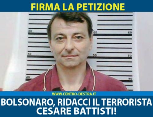 BOLSONARO RIDACCI IL TERRORISTA BATTISTI! – FIRMA LA PETIZIONE