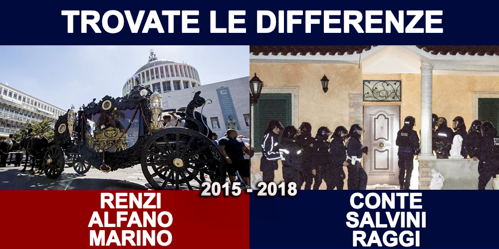 Salvini con la ruspa sulle ville dei casamonica
