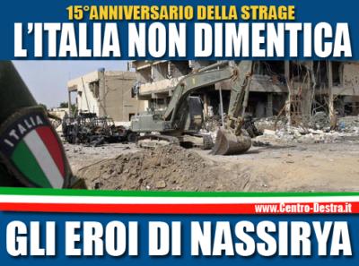 15 anni dopo ancora nessuna medaglia d'oro alle vittime della strage di Nassiriya