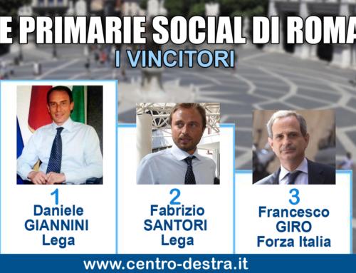 PRIMARIE SOCIAL DI ROMA: VINCONO GIANNINI, SANTORI E GIRO.