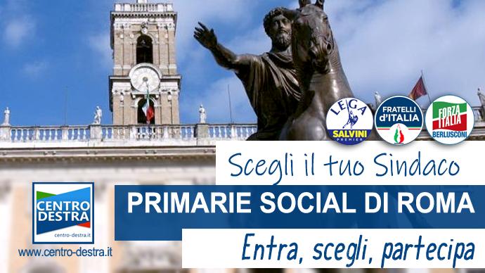 candidati centrodestra roma primarie social