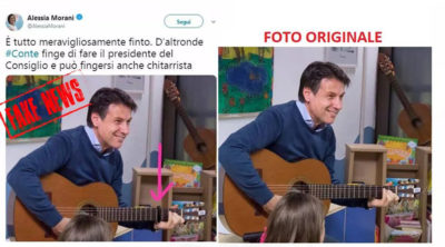 alessia morani e foto fake news