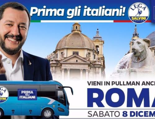 8 DICEMBRE, SALVINI A ROMA – TUTTI I DETTAGLI PER PARTECIPARE