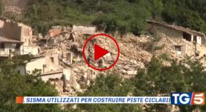 Regione marche spende fondi terremoto per pista ciclabile