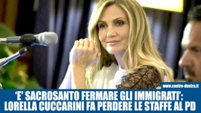 Lorella Cuccarini fa perdere le staffe al Pd