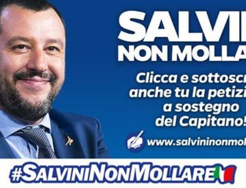 L'ITALIA SI MOBILITA PER SALVINI. 200 MILA FIRME IN POCHE ORE. FIRMA ONLINE LA PETIZIONE