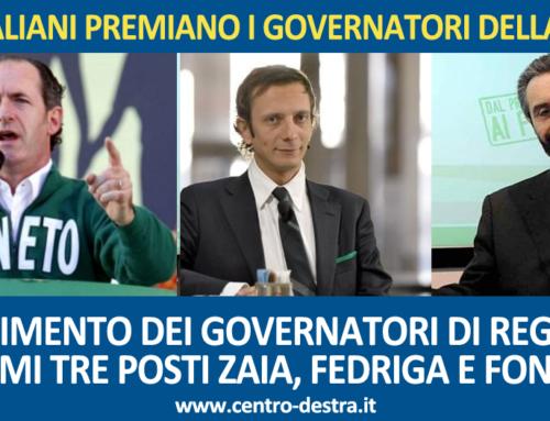 GLI ITALIANI PREMIANO IL BUONGOVERNO: SUL PODIO I GOVERNATORI LEGHISTI ZAIA, FEDRIGA E FONTANA.