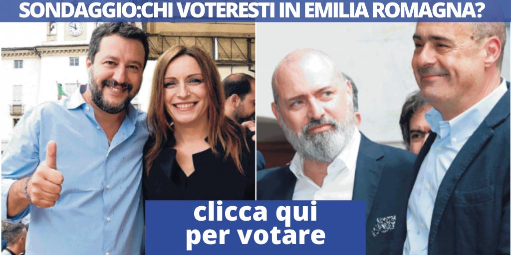 sondaggio bonaccini borgonzoni emilia romagna
