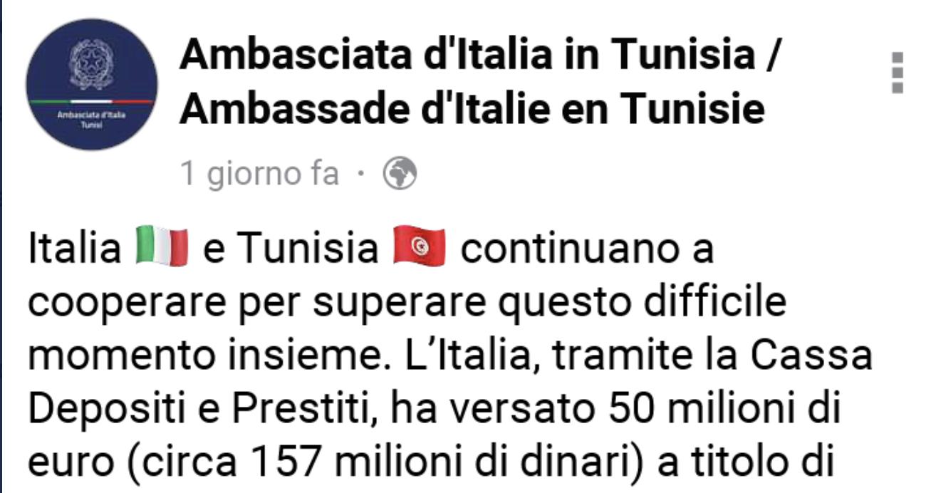 50 milioni alla Tunisia tramano conte e di maio