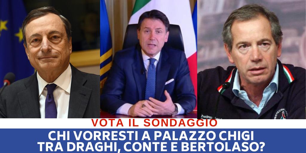 Draghi, Conte o Bertolaso, chi vorresti a palazzo Chigi?