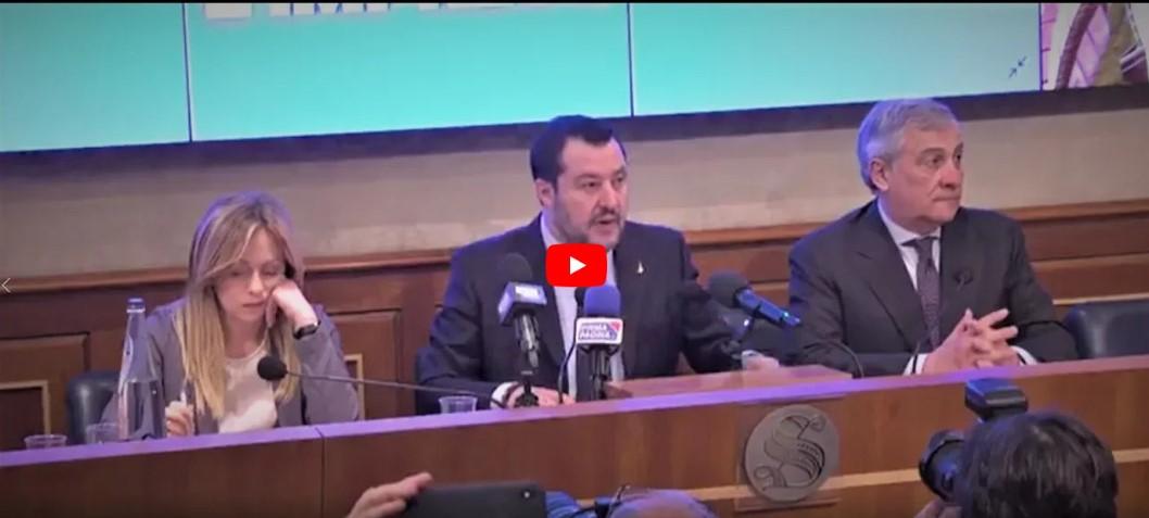 conferenza stampa centrodestra senato
