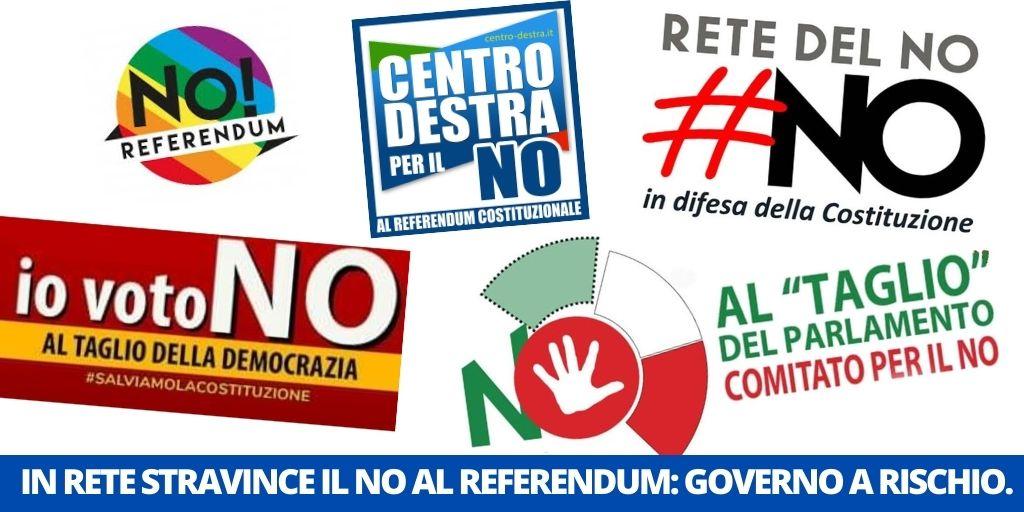 IN RETE STRAVINCE IL NO AL REFERENDUM: IL GOVERNO RISCHIA TUTTO.